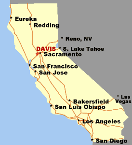 Davis California Map